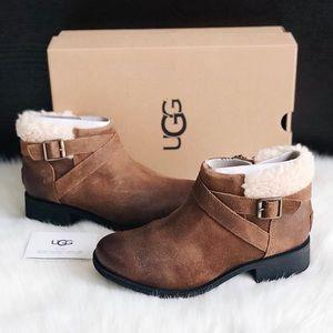 ✨New UGG Benson Waterproof Leather Wool Booties